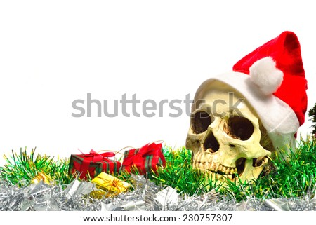 ghost and gifts.  - stock photo
