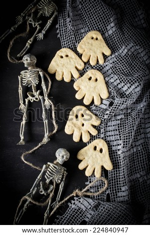 Ghost cookie for Halloween children?? party - stock photo