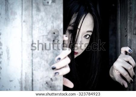 Ghost Girl Horror , Halloween image. - stock photo