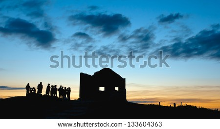 Ghost house at Brittany France - stock photo