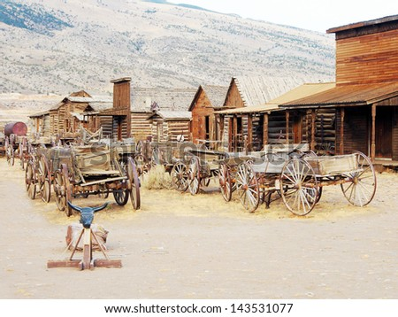 Ghost Town, Cody, Wyoming, United States - stock photo