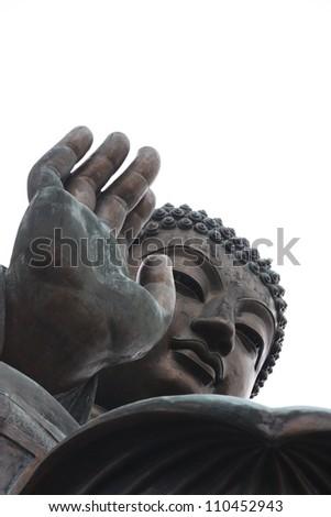 Giant Buddha statue in Hong Kong Tian Tan - stock photo