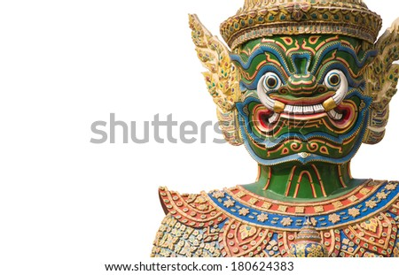 Giant guardian isolated with plain white background - stock photo