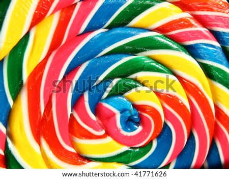 giant lollipop with beautiful colors - stock photo