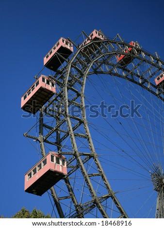 Giant old ferris wheel in Wien, Austria - stock photo