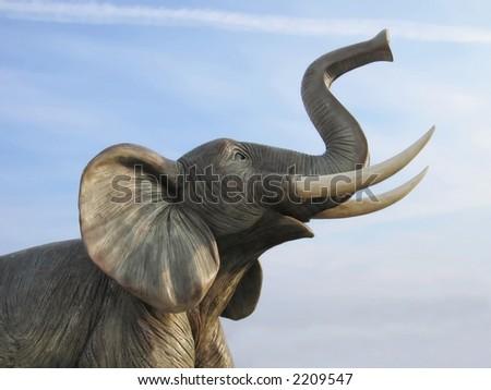 giant plastic elephant - stock photo