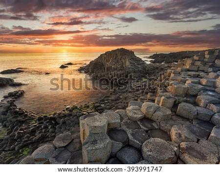 Giant's Causeway, Antrim, Northern Ireland - stock photo