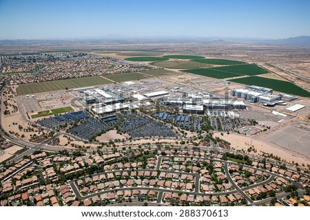 Giant technology plant in Chandler, Arizona - stock photo