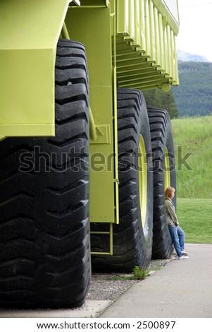 Giant Truck - stock photo