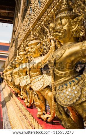 giant,Wat Phra Kaew - stock photo