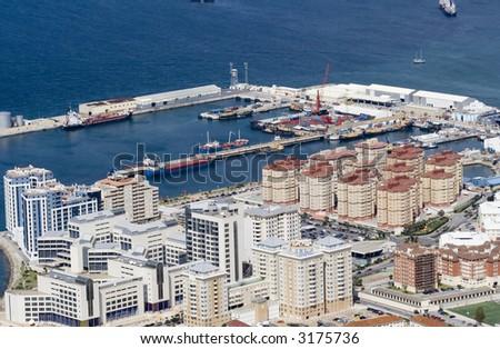 Gibraltar city - stock photo