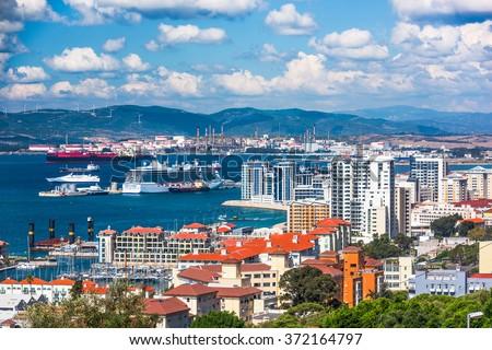 Gibraltar Coastline - stock photo