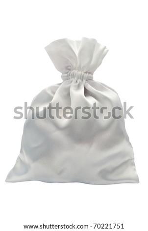 gift bag isolated on white - stock photo