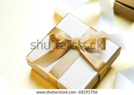 Gift box for St.Valentine's day - stock photo