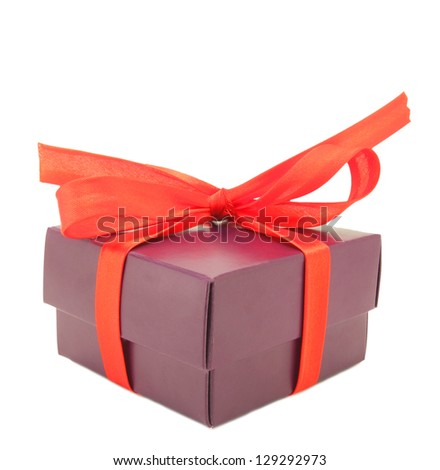 Gift boxes with bow - stock photo