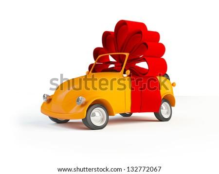 Gift car - stock photo