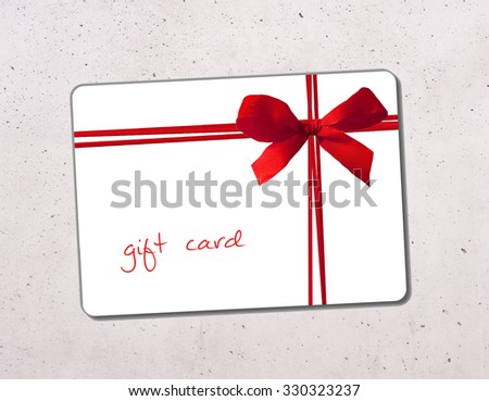 gift card - stock photo