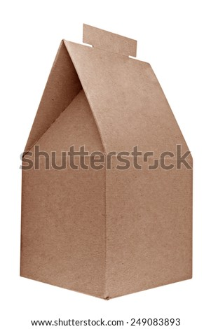 Gift cardboard box isolated on white background. Clipping path included. - stock photo