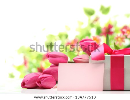 Gift for Mother's Day - stock photo