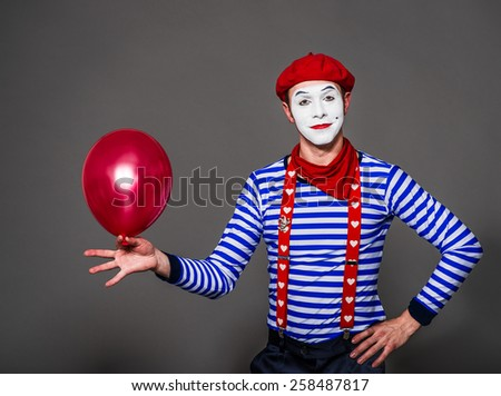 gift for the holiday of  mime - stock photo