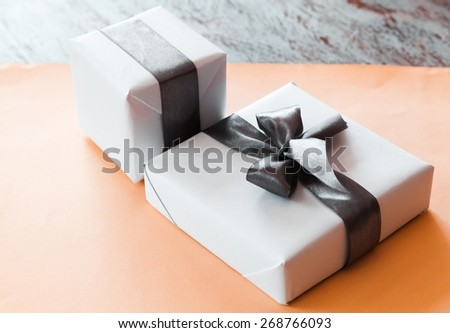 Gift, Gift Box, Jewelry. - stock photo