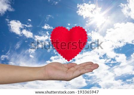 Gift of heart - stock photo