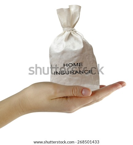 Gift of home insurance - stock photo