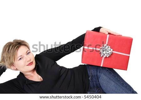 gift pose 3 - stock photo