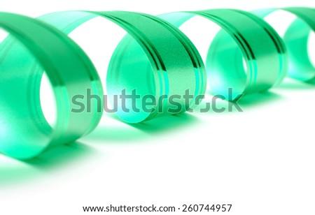 gift ribbon isolated on white - stock photo