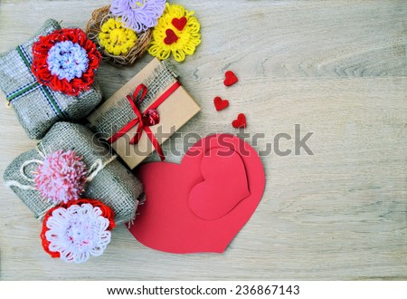 Gifts for Valentine's Day - stock photo