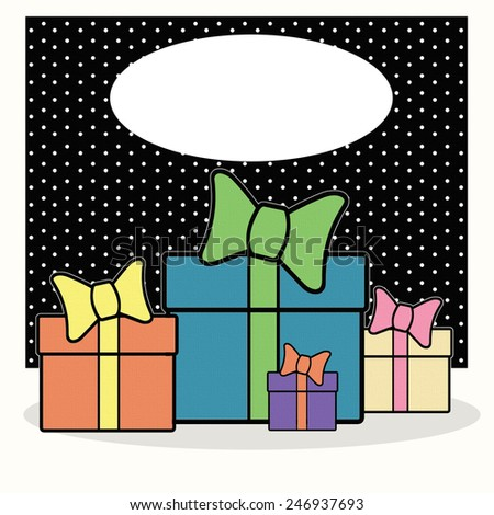 Gifts - Text - stock photo