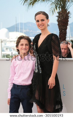 Gilad Kahana, Natalie Portman attend the 'A Tale Of Love And Darkness' Photocall during the 68th annual Cannes Film Festival on May 17, 2015 in Cannes, France. - stock photo