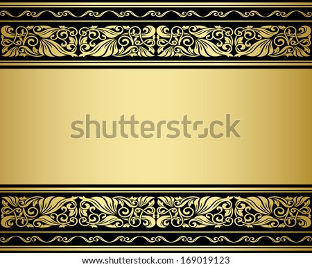 Gilded ornaments and patterns with flourish elements for design. Vector version also available in gallery - stock photo