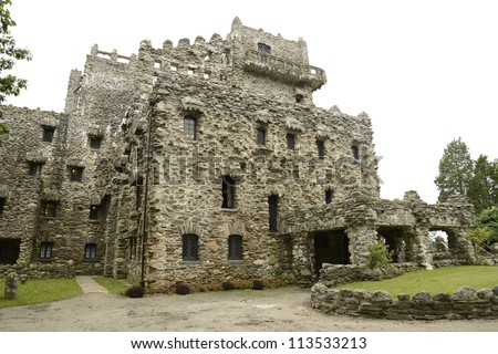 Gillette Castle near East Haddam and Lyme, Connecticut - stock photo