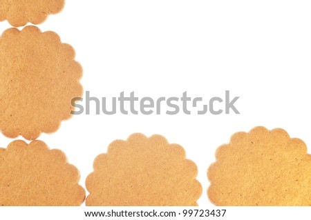 Ginger cookies frame - stock photo
