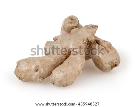 Ginger isolated on white background with clipping path - stock photo