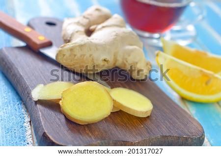 ginger tea - stock photo