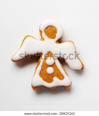 Gingerbread angel - stock photo