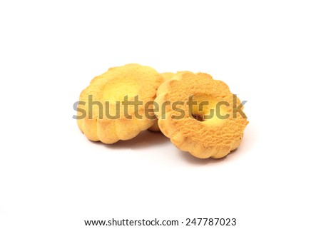 Gingerbread cookie isolated on white background - stock photo