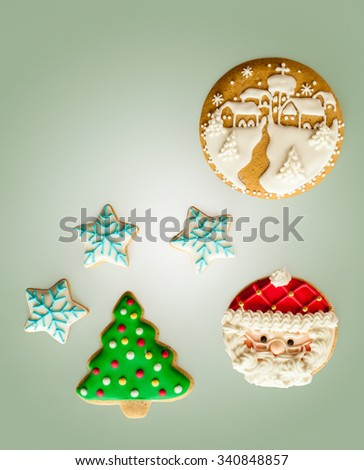Gingerbread cookies - stock photo