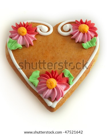 gingerbread hearth, a name or a text can be putted inside - stock photo