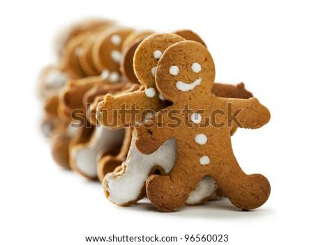 Gingerbread Men - stock photo