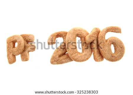 gingerbread PF 2016 isolated on the white background - stock photo