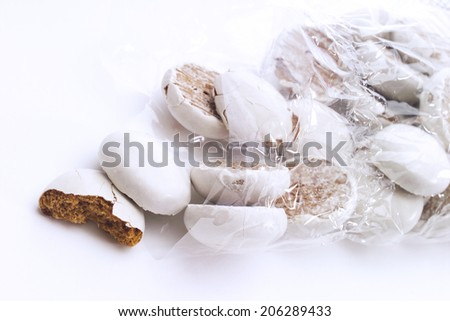 Gingerbread with sugar icing - stock photo