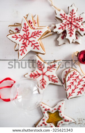 gingerbreads cookies - stock photo