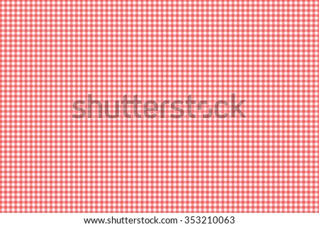 Gingham check red - stock photo