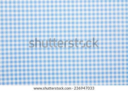 gingham fabric background - stock photo
