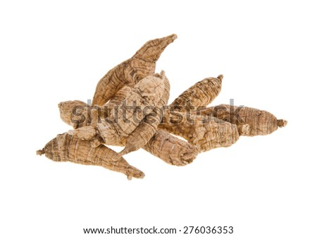 ginseng. Dried Ginseng On Background - stock photo