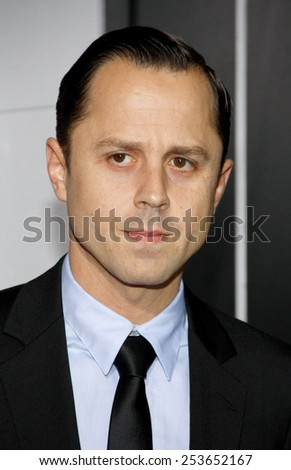 "Giovanni Ribisi at the Los Angeles premiere of ""Gangster Squad"" held at the Grauman's Chinese Theatre in Los Angeles, United States, 07-01-13.  - stock photo"