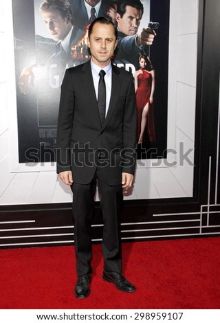 Giovanni Ribisi at the Los Angeles premiere of 'Gangster Squad' held at the Grauman's Chinese Theatre in Hollywood on January 7, 2013.  - stock photo